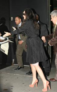 Demi Moore spotted on April 14th 2010 as she arrives at Good Morning America studios 1