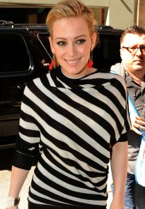 Hilary Duff spotted on April 14th 2010 as she was arriving in New York City for an appearace on Live with Regis and Kelly 2
