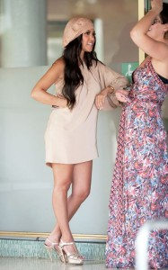 Kourtney Kardashian was spotted on April 9th 2010 while heading to lunch with a friend in Miami at The Standard Hotel 3