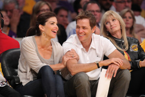 Lauren Sanchez attends a game between the Oklahoma City Thunder and the Los Angeles Lakers at Staples Center on April 18th 2010 in Los Angeles 1