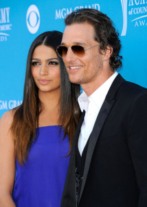 Matthew McConaughey and Camila Alves arrive for the 45th Annual Academy of Country Music Awards at the MGM Grand Garden Arena on April 18th 2010 in Las Vegas 3