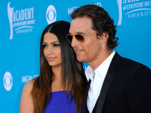 Matthew McConaughey and Camila Alves arrive for the 45th Annual Academy of Country Music Awards at the MGM Grand Garden Arena on April 18th 2010 in Las Vegas 1