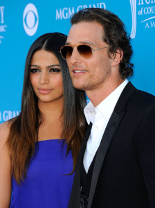 Matthew McConaughey and Camila Alves arrive for the 45th Annual Academy of Country Music Awards at the MGM Grand Garden Arena on April 18th 2010 in Las Vegas 2