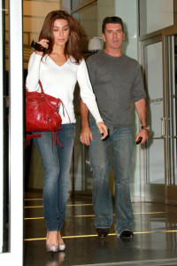 Mezhgan Hussainy and Simon Cowell arrive at the Larry King show for promoting the Idol Gives Back Foundation on April 19th 2010 in Hollywood 3