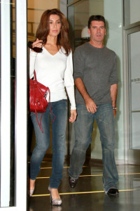 Mezhgan Hussainy and Simon Cowell arrive at the Larry King show for promoting the Idol Gives Back Foundation on April 19th 2010 in Hollywood 2