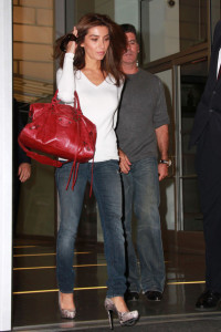 Mezhgan Hussainy and Simon Cowell arrive at the Larry King show for promoting the Idol Gives Back Foundation on April 19th 2010 in Hollywood 1