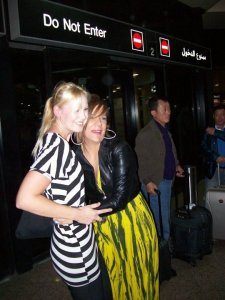 Miral Faisal picture as she lands in Dubai Airport and reaches back home after she left star academy seven on April 23rd 2010 with her friend