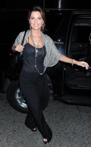 Shania Twain was spotted on April 8th 2010 while out in New York City 2