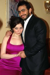 tamer hosny and Mai Ezzideen together at a private party gathering 1