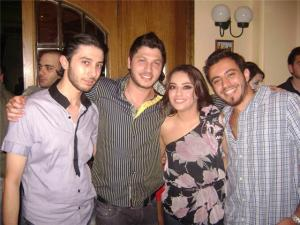 Zena Aftimos birthday party inlcuded Aline Kessis with Rayan Eid and Bassel Khouri