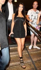 Kim Kardashian leaving the Ivy nightclub wearing a black dress on April 19th 2010 in Sydney Australia 4