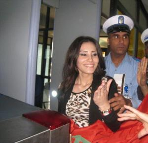 Tahra Hmamich picture as she arrives at the Mohammad the 5th airport in Casablanca Morocco 16