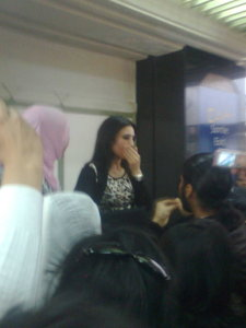 Tahra Hmamich picture as she arrives at the Mohammad the 5th airport in Casablanca Morocco 4