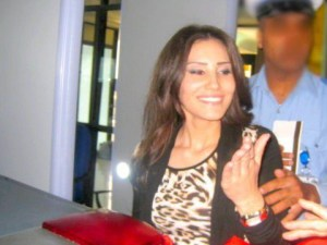 Tahra Hmamich picture as she arrives at the Mohammad the 5th airport in Casablanca Morocco 8
