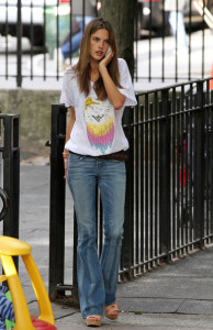 Alessandra Ambrosio spotted on May 13th 2010 while heading towards the West Village park 3
