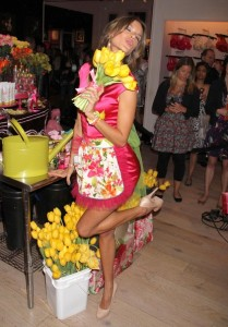 Alessandra Ambrosio attends the Victorias Secret Heavenly Flowers Fragrance Launch on April 24th 2010 at Victorias Secret Soho in New York City 1