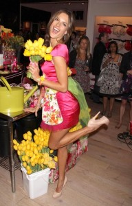 Alessandra Ambrosio attends the Victorias Secret Heavenly Flowers Fragrance Launch on April 24th 2010 at Victorias Secret Soho in New York City 2