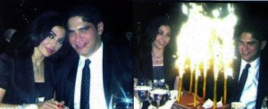Haifa Wehbe picture with her husband Ahmed abo Hashimah while having dinner together