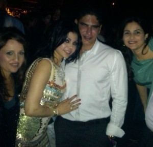 Haifa Wehbe picture with her husband Ahmed abo Hashimah at a party together