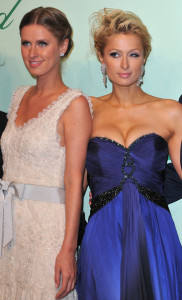 Paris and Nicky Hilton attend the Chopard 150th Anniversary Party at Palm Beach Pointe Croisette during the 63rd Annual Cannes Film Festival on May 17th 2010 in Cannes 2