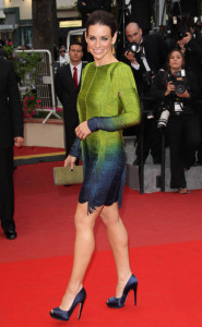 Evangeline Lilly at the 63rd Annual Cannes Film Festival premiere of You Will Meet a Tall Dark Stranger held on May 15th 2010 at the Palais des Festivals in Cannes 2