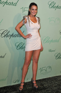 Lindsay Lohan attends the Chopard 150th Anniversary Party at Palm Beach Pointe Croisette during the 63rd Annual Cannes Film Festival on May 17th 2010 in France