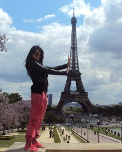 Star Academy season seven student Rahma Ahmed picture during her visit to Euro Disney after winning the paris trip 7