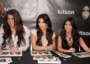 Kim Kardashian with both of her sisters Khloe and Kourtney at Kitsons on May 11th 2010 on Robertson Boulevard 1