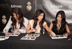 Kim Kardashian with both of her sisters Khloe and Kourtney at Kitsons on May 11th 2010 on Robertson Boulevard 2