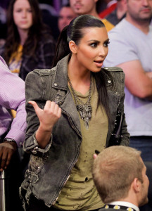 Kim Kardashian attends Game Two of the Western Conference Finals between the Phoenix Suns and the Los Angeles Lakers during the 2010 NBA Playoffs at Staples Center on May 19th 2010 in Los Angeles