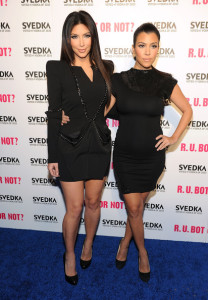 Kourtney Kardashian and her sister Kim at the Battle Of The Bots sponsored by Svedka Vodka held on May 23rd 2010 at Wonderland in Hollywood 4