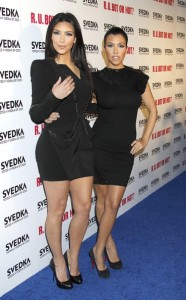 Kourtney Kardashian and her sister Kim at the Battle Of The Bots sponsored by Svedka Vodka held on May 23rd 2010 at Wonderland in Hollywood 2