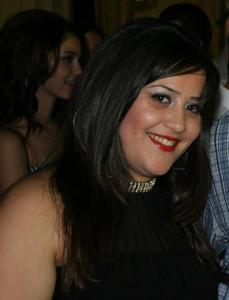 Star Academy Student Nassif Zaitouns sister Nancy at Zaina birthday