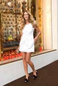 Elle Macpherson arrives at the Louis Vuitton Bond Street Maison launch on New Bond Street on May 25th 2010 in London England 3