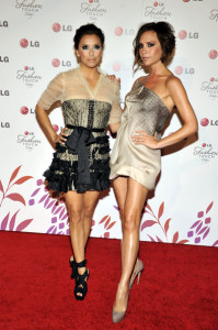 Eva Longoria Parker and Victoria Beckham at the Night of Fashion and Technology with LG Phones event held at Soho House on May 24th 2010 in West Hollywood 2