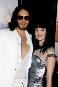 Russell Brand and Katy Perry at the World premiere of his new film Get Him To The Greek held on May 25th 2010 at the Greek Theater in Hollywood 3