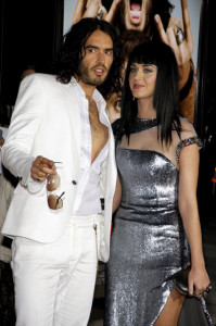 Russell Brand and Katy Perry at the World premiere of his new film Get Him To The Greek held on May 25th 2010 at the Greek Theater in Hollywood 2
