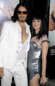 Russell Brand and Katy Perry at the World premiere of his new film Get Him To The Greek held on May 25th 2010 at the Greek Theater in Hollywood 4