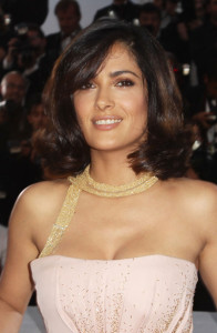 Salma Hyek attends the 63rd Annual Cannes Film Festival for The Tree Premiere on May 23rd 2010 at the Palais des Festivals in France 5