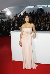 Salma Hyek attends the 63rd Annual Cannes Film Festival for The Tree Premiere on May 23rd 2010 at the Palais des Festivals in France 6