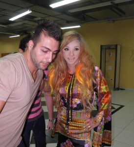 backstage picture of Basem Fghali at the pre final prime on May 18th 2010 in staracademy building 2