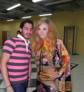 backstage picture of Basem Fghali at the pre final prime on May 18th 2010 in staracademy building 1