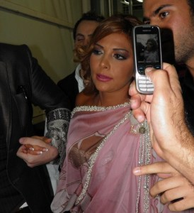 backstage picture of Asala Nasri at the pre final prime on May 18th 2010 in staracademy building 3