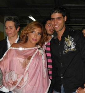 backstage picture of Asala Nasri at the pre final prime on May 18th 2010 in staracademy building 2