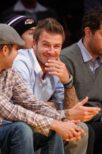 David Beckham attends Game Five of the Western Conference Finals during the 2010 NBA Playoffs at Staples Center on May 27th 2010 in Los Angeles 8