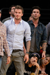 David Beckham attends Game Five of the Western Conference Finals during the 2010 NBA Playoffs at Staples Center on May 27th 2010 in Los Angeles 1