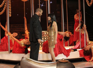 Rahma and Mohamad Ramadan at the fifteenth prime on May 28th 2010 of the 7th season of staracademy