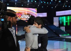 Mohamad Ramadan and Nassif Zaitoun saying goodbye to Rami Shemali at the fifteenth prime on May 28th 2010 of the 7th season of staracademy