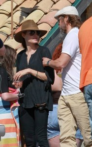 Brad Pitt and Angelina Jolie seen together on May 29th 2010 at a party with friends in Malibu California 2