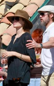 Brad Pitt and Angelina Jolie seen together on May 29th 2010 at a party with friends in Malibu California 1
